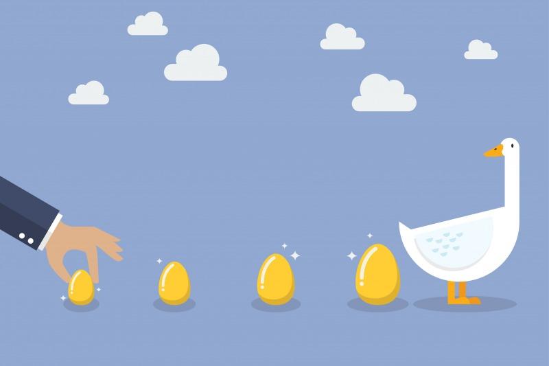 金の卵を産むガチョウ